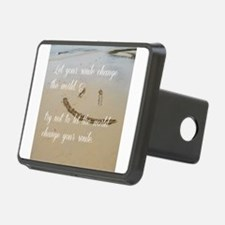 smile change the world Hitch Cover