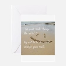 smile change the world Greeting Cards