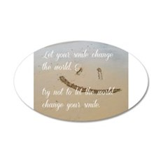 smile change the world Wall Decal