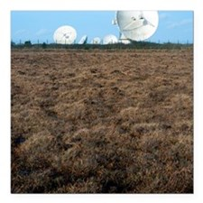 """Goonhilly Earth Station Square Car Magnet 3"""" x 3"""""""