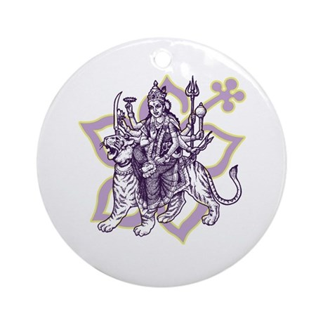 Durga Ornament (Round)