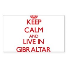 Keep Calm and live in Gibraltar Decal