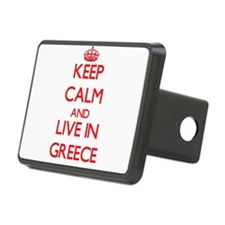 Keep Calm and live in Greece Hitch Cover