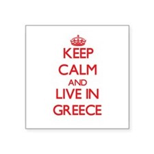 Keep Calm and live in Greece Sticker