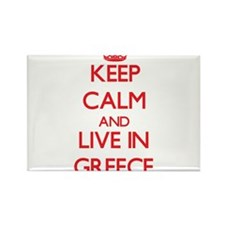 Keep Calm and live in Greece Magnets