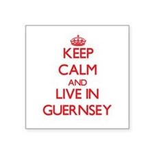 Keep Calm and live in Guernsey Sticker