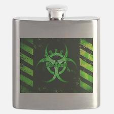 Green Bio-hazard Flask