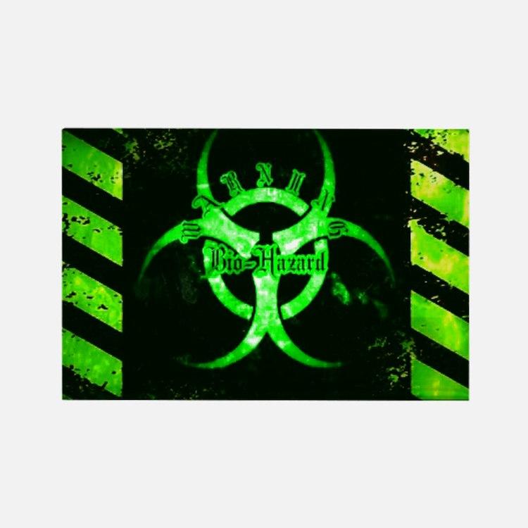 Green Bio-hazard Magnets