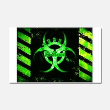 Green Bio-hazard Car Magnet 20 x 12