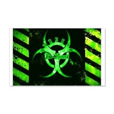 Green Bio-hazard Wall Decal