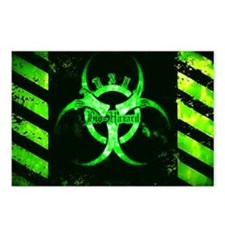 Green Bio-hazard Postcards (Package of 8)