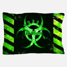 Green Bio-hazard Pillow Case