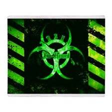 Green Bio-Hazard Throw Blanket