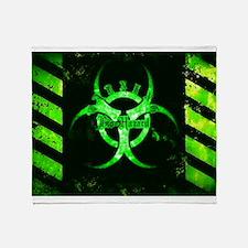 Green Bio-Hazard Throw Blanket