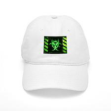 Green Bio-hazard Baseball Baseball Cap