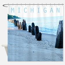 Lake Michigan Beach Shower Curtain