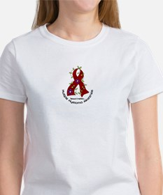 Multiple Myeloma Flower Ribbon 1.1 Women's T-Shirt