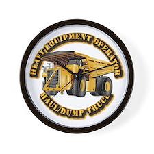 Heavy Equipment Operator - Dump Trk Wall Clock