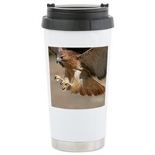 Cute Red hawk Travel Mug
