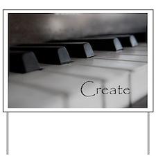 Piano Keys With Inspriational Word Create Yard Sig