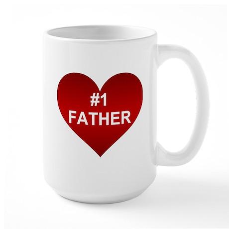 #1 FATHER Large Mug