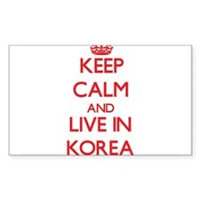 Keep Calm and live in Korea Decal