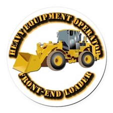 Hvy Equipment Operator - Front En Round Car Magnet
