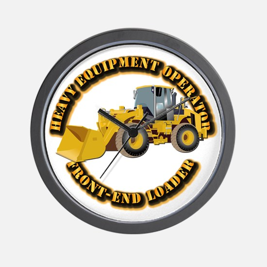 Hvy Equipment Operator - Front End Load Wall Clock