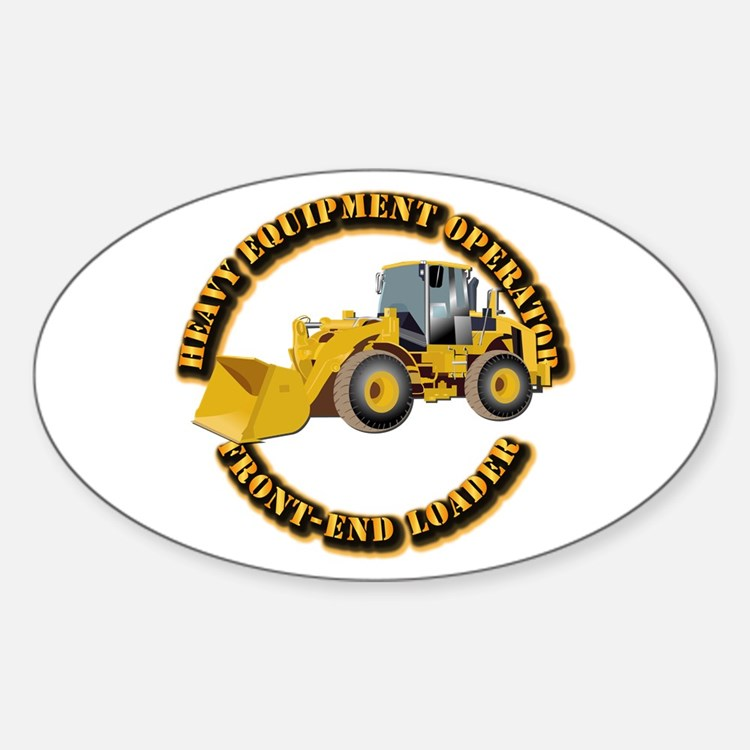 Hvy Equipment Operator - Front End Sticker (Oval)