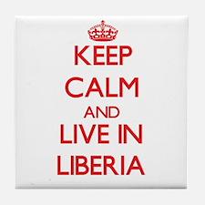 Keep Calm and live in Liberia Tile Coaster