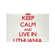 Keep Calm and live in Lithuania Magnets
