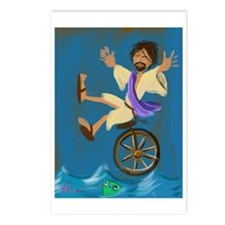 Jesus on a unicycle Postcards (Package of 8)