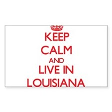 Keep Calm and live in Louisiana Decal