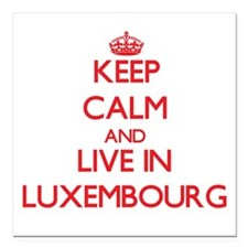 Keep Calm and live in Luxembourg Square Car Magnet