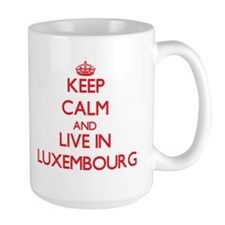 Keep Calm and live in Luxembourg Mugs