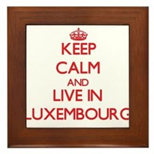 Keep Calm and live in Luxembourg Framed Tile