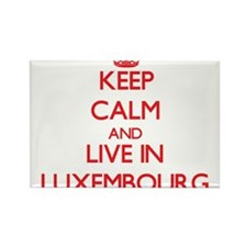 Keep Calm and live in Luxembourg Magnets