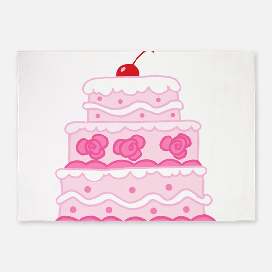 Pink Cake 5'x7'Area Rug