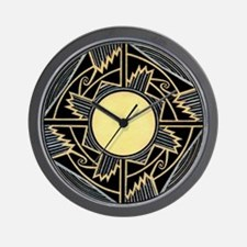 MIMBRES NEW MEXICO ZIA BOWL DESIGN Wall Clock