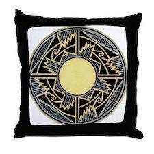 MIMBRES NEW MEXICO ZIA BOWL DESIGN Throw Pillow