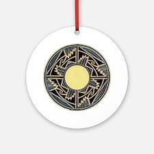 MIMBRES NEW MEXICO ZIA BOWL DESIGN Ornament (Round