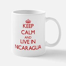 Keep Calm and live in Nicaragua Mugs