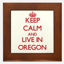 Keep Calm and live in Oregon Framed Tile