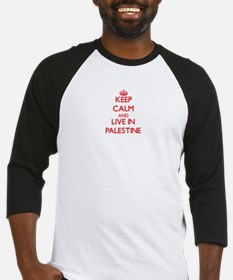 Keep Calm and live in Palestine Baseball Jersey