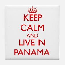 Keep Calm and live in Panama Tile Coaster