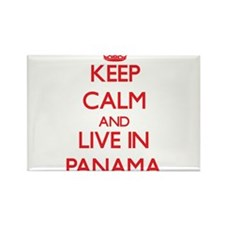 Keep Calm and live in Panama Magnets