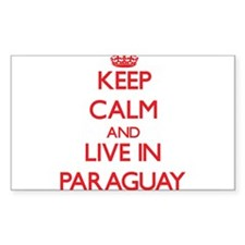 Keep Calm and live in Paraguay Decal