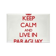 Keep Calm and live in Paraguay Magnets