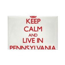 Keep Calm and live in Pennsylvania Magnets