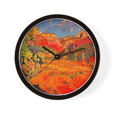 Joaquin Mir Red Valley Wall Clock